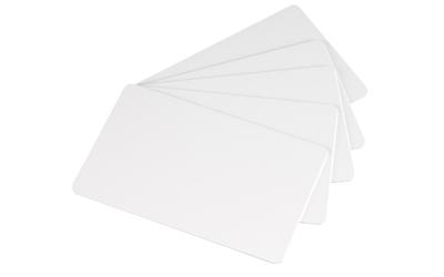 Tarjetas plásticas de PVC blancas